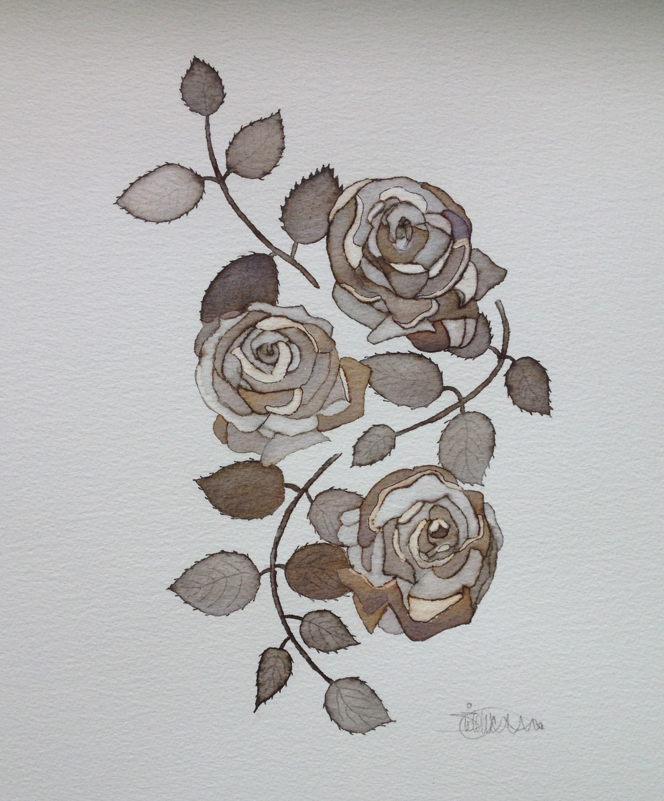 Commission Roses mono
